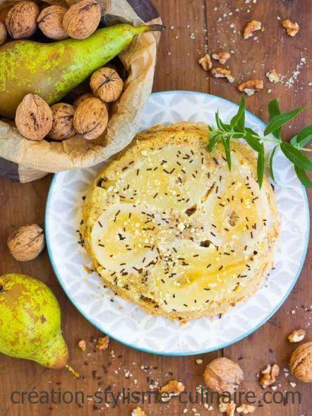 moelleux sans gluten poire noix