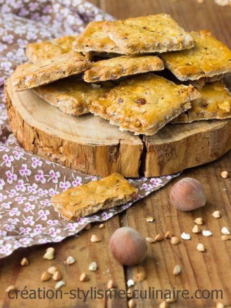 crackers sans gluten noisette graines