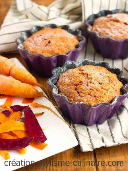 gâteau de carotte et betterave