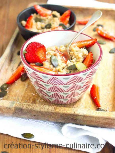 porridge sans gluten à la fraise