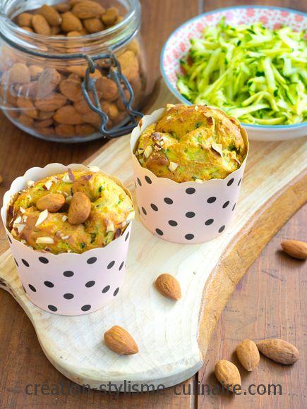 Muffins de courgette amande citron
