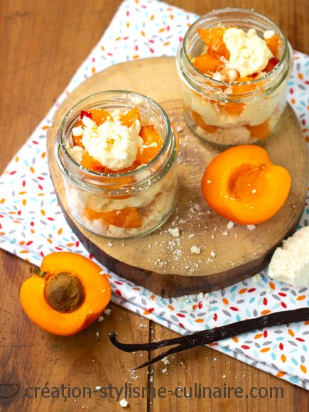 Verrine abricot chantilly meringue