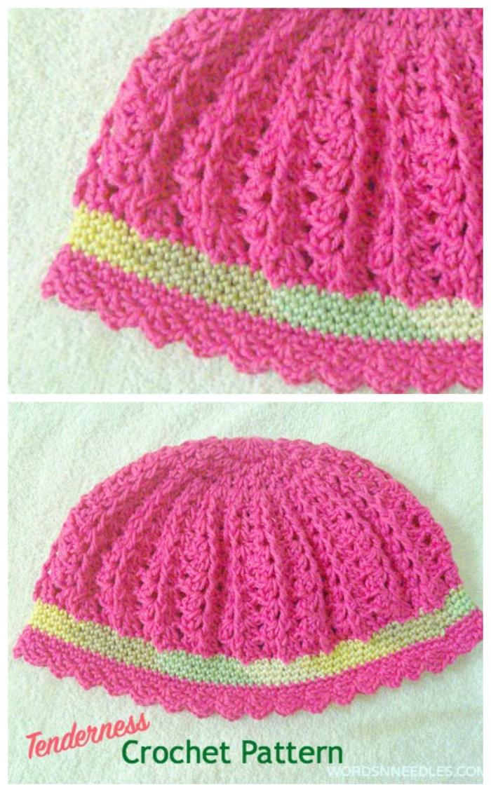Tenderness crocheted beret words n needles