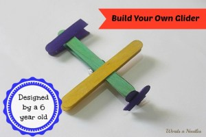build your own glider kids craft