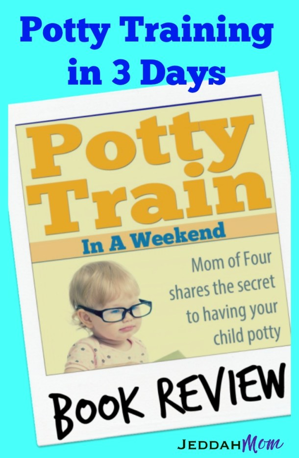 Potty Training in a Weekend by Becky Mansfield How to potty train your toddler between the age of 18-24 months. Is it possible to potty train in 3 days? All the support they need int his award winning book Book Review JeddahMOm
