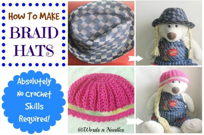 Super Easy Braid Hats
