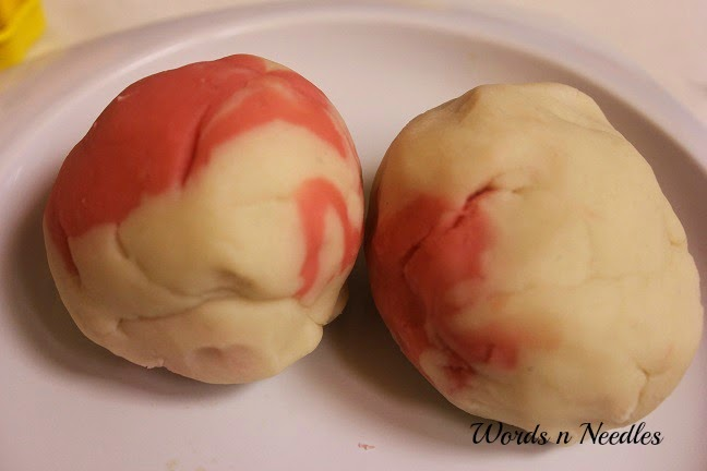 rooh afza playdough candy balls