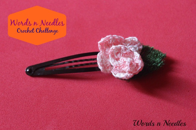 A Rose  Hair Clip – Crochet Challenge