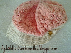 orange flower beret wordsnneedles