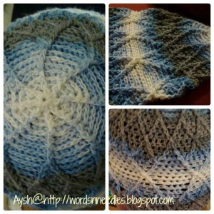 diamonds for a boy crochet cap
