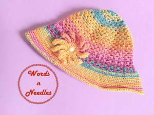 rainbow inthe sun cloche hat pattern wordsnneedles
