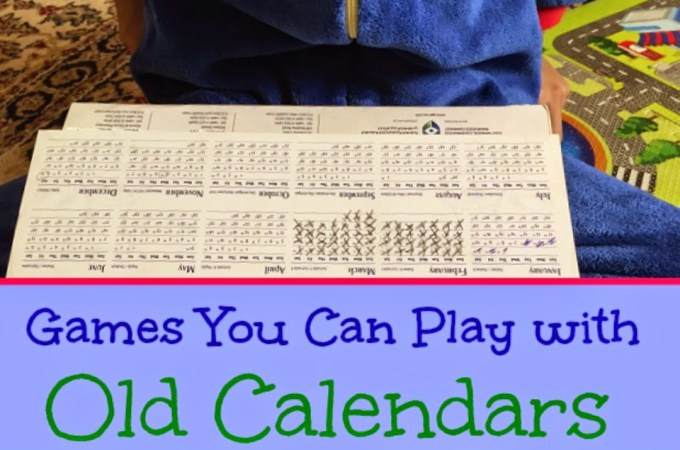 Games to play using old Calendars