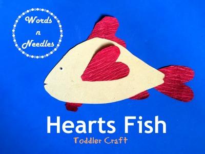 fish craft using crepe paper hearts