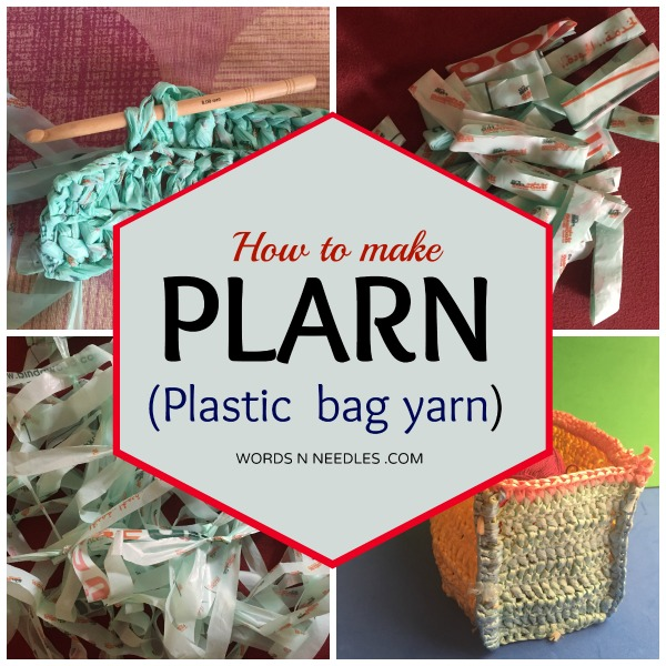 how to make plarn plastic bag yarn wordsnneedles