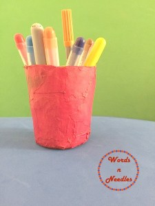 paper mache activity earth day wordsnneedles