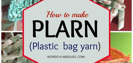 plarn from grocery bag