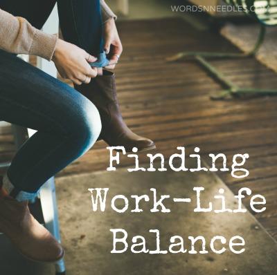 finding work life balance wordsnneedles