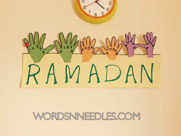 Ramadan calendar for kids