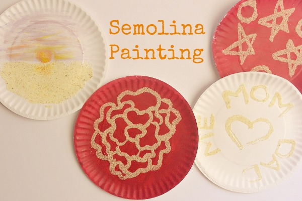 semolina painting wordsnneedles