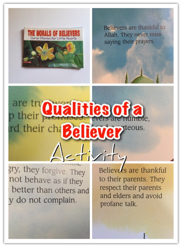 morals of believer book ramadan for kids activity book
