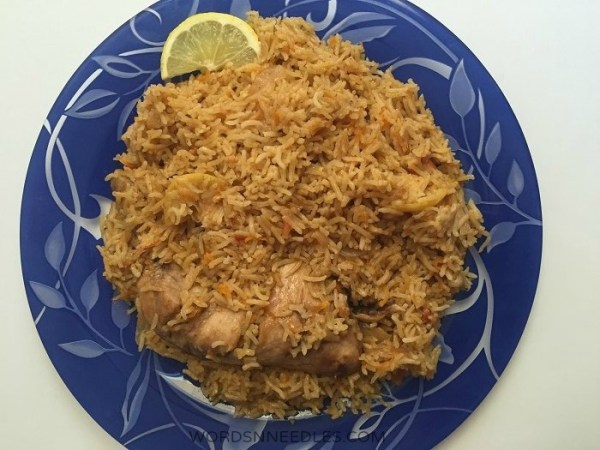 saudi Kabsa Recipe Menu for Eid Ramdan for Kids WordsnNeedles