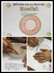 activity for children to learn Islamic table manners