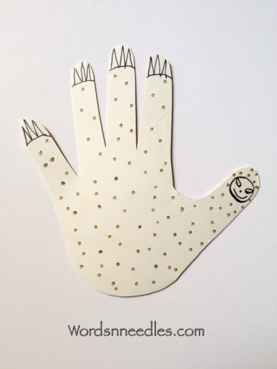 hand print sloth international sloth day toddler preschool craft rainforest