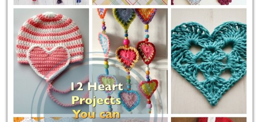 crochet heart patterns projects bracelets caps doilies