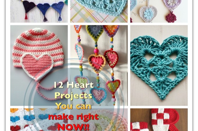 12 Simple Heart Projects To Crochet Right Now