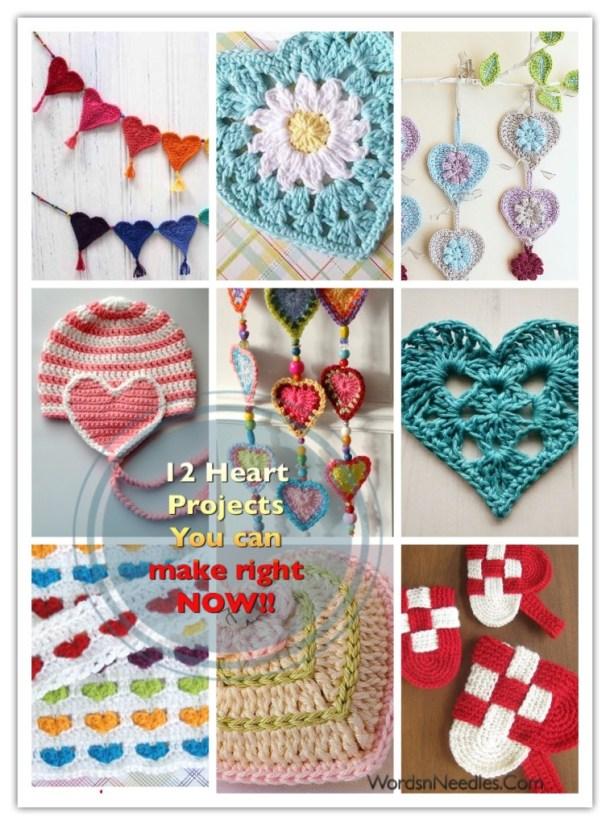crochet heart patterns projects bracelets caps doilies