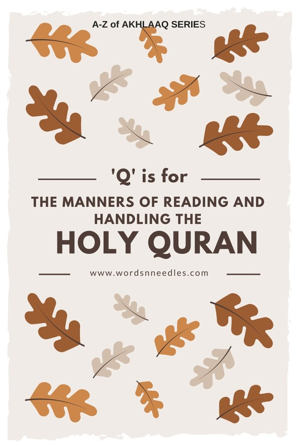 manners and rules of handling the Holy Quran | jeddahMOm