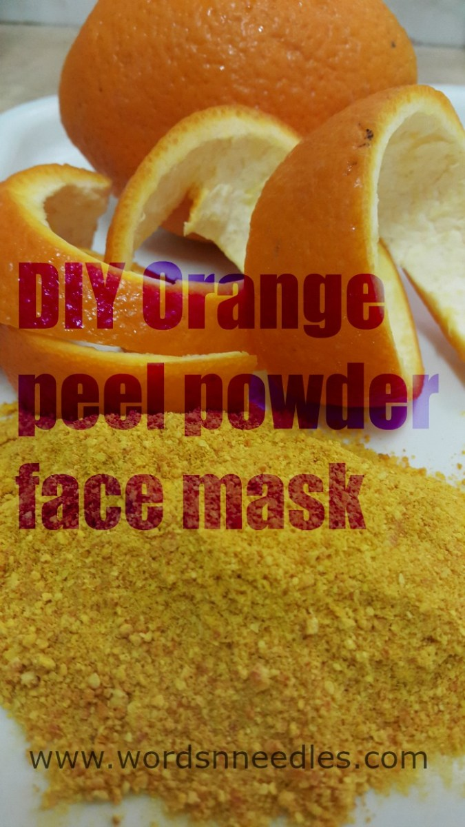 DIY Orange peel powder face mask and scrub