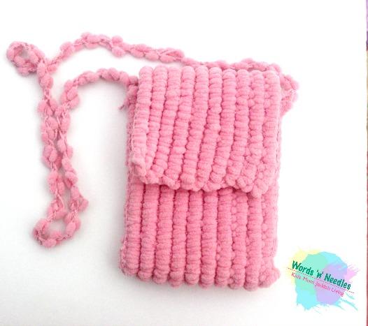 Popcorn yarn bag crochet pattern