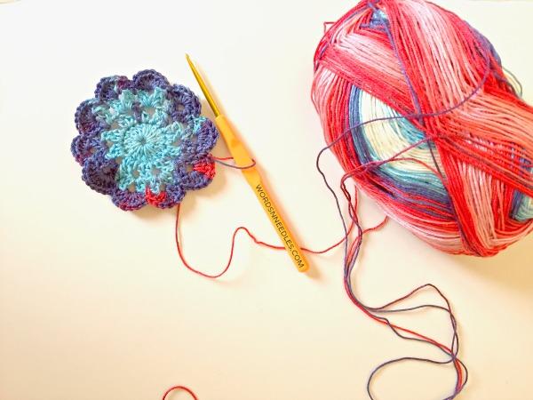 crochet flower wordsnneedles