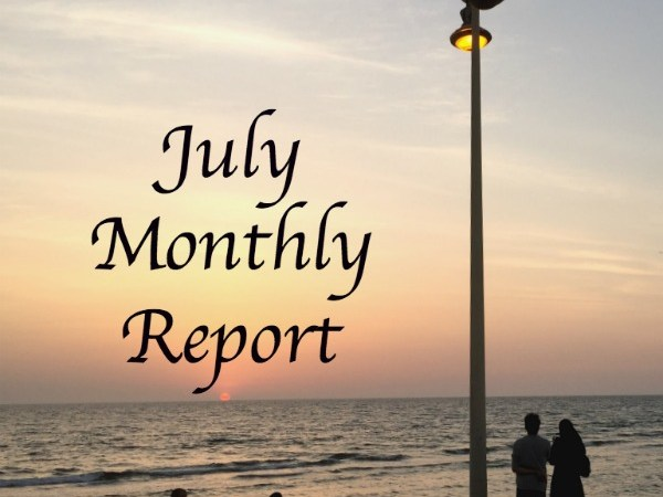 July monthly report staycation with kids