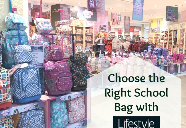 Choose the right school bag with Lifestyle stores words needles Jeddah mom Saudi living back to school