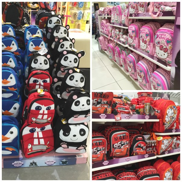 cartoon character themed bags back to school lifestyle stores