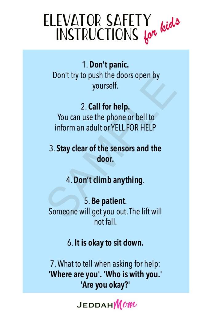 Elevator Safety Instructions for Kids JeddahMom