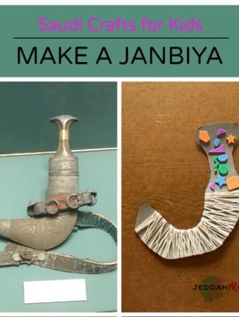 Saudi kids craft Janbiya craft for kids JeddahMom
