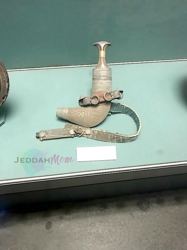 Traditional Janbiya at an exhibition JeddahMom