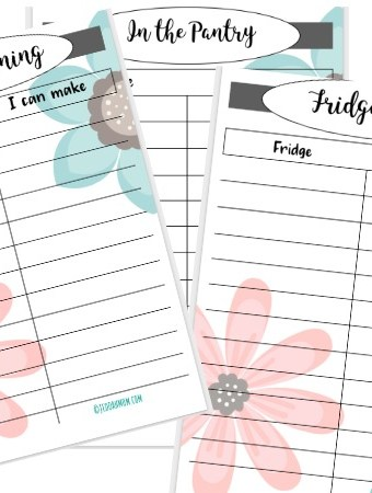 Free Printable Fridge and Pantry List to Meal Plan easily every single day JeddahMom