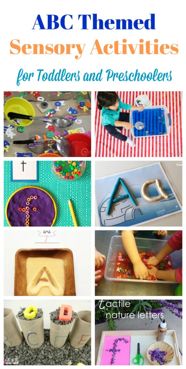 ABC themed sensory activities for Preschoolers and Toddlers JeddahMom