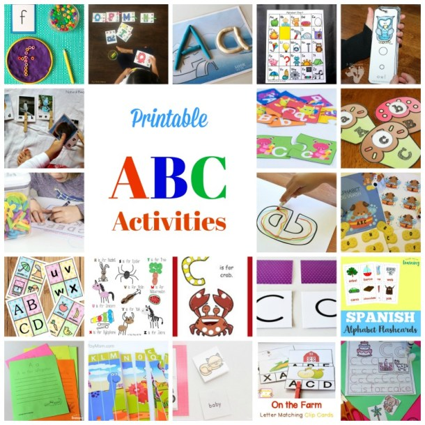 Printable ABC activities to teach toddlers and Preschoolers Alphabets through play