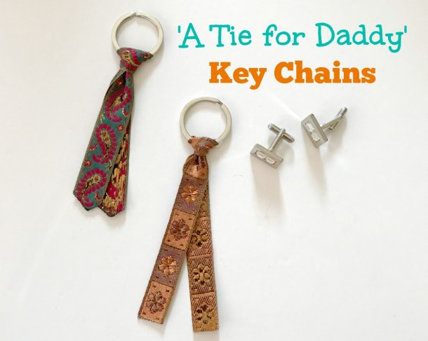 A tie for daddy Necktie key chains for Fathers day Jeddah Mom