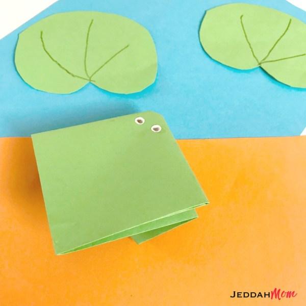 Origami frog craft for kids JeddahMom