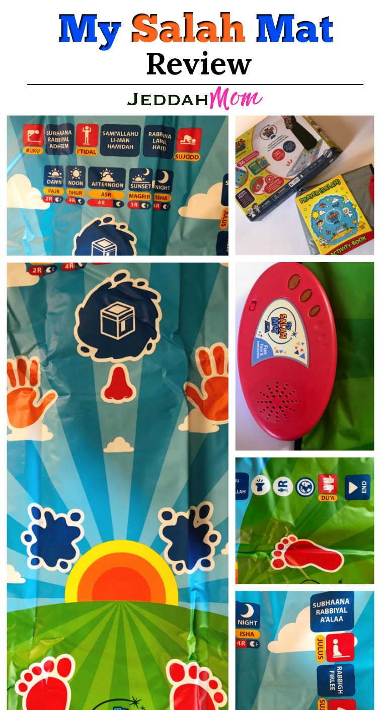 My Salah Mat Review onJeddah Mom How to pray Salah Muslim Kids Eid Gifts for kids