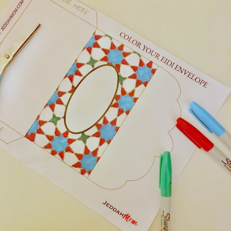 Ramadan Activities Color your envelope JeddahMom