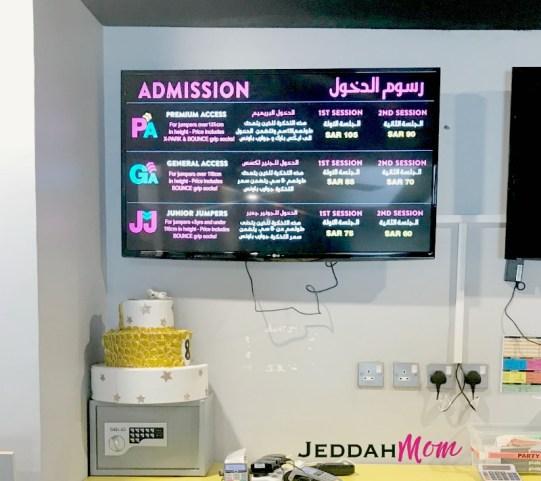 Prices at Bounce Jeddah JeddahMom
