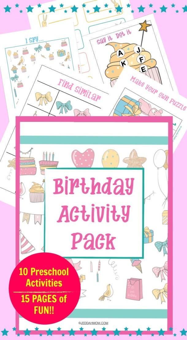 Birthday Kindergarten Worksheets