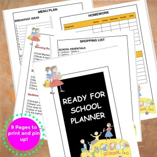 Ready for school back to school planner and routines | JeddahMom